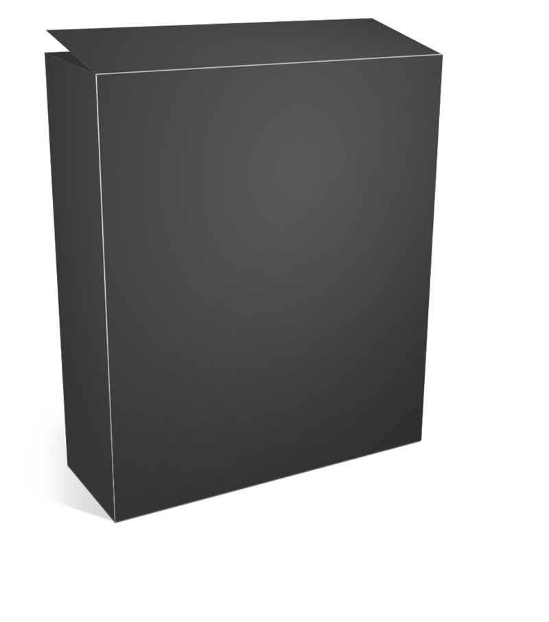 Software Box Open Top Mockup