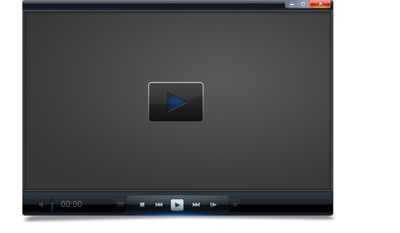Video Player 2D Mockup