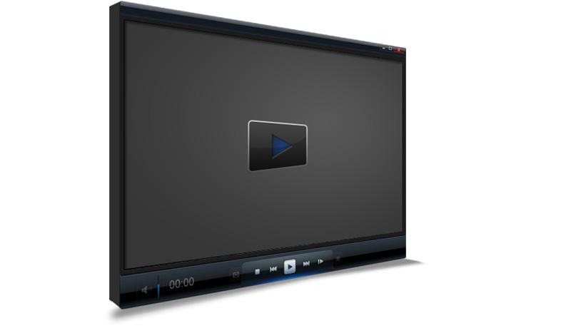 Video Player 3D Mockup
