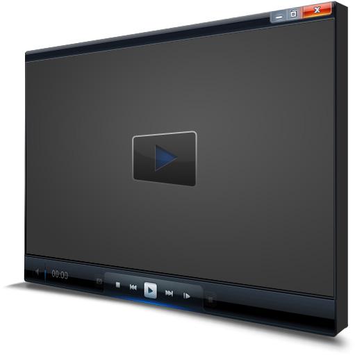 Video Player 3D Left Mockup