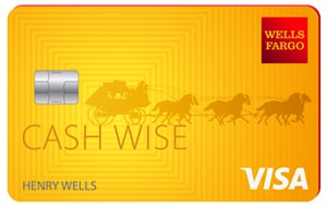 Graphic of Wells Fargo Cash Wise Visa® Card
