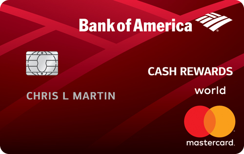 Graphic of Bank of America® Cash Rewards credit card