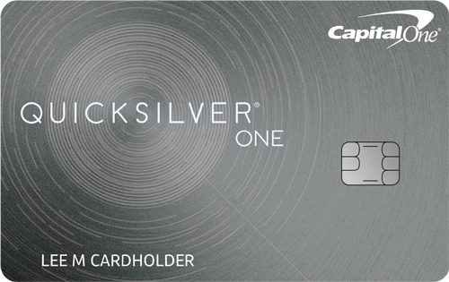 Graphic of Capital One® QuicksilverOne® Cash Rewards Credit Card