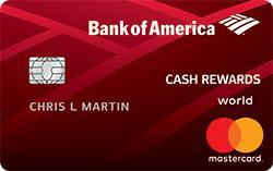 Graphic of Bank of America® Cash Rewards credit card - $200 Cash Rewards Offer