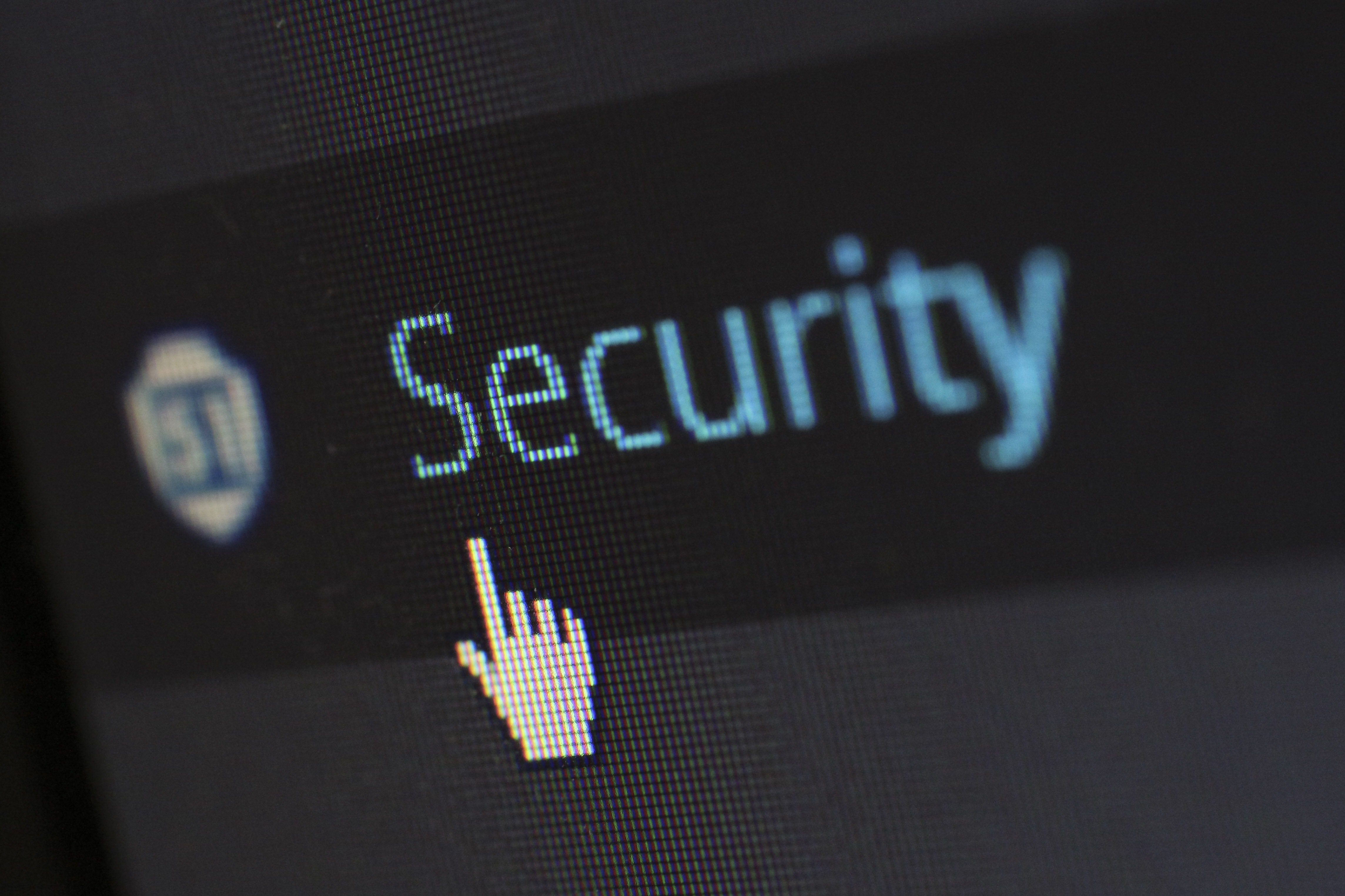 Cyber security and computer screen