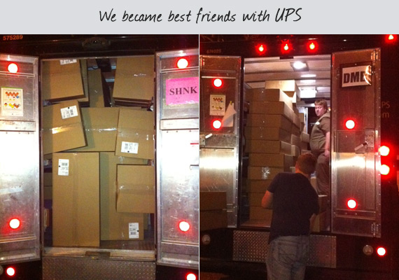 We became best friends with ups