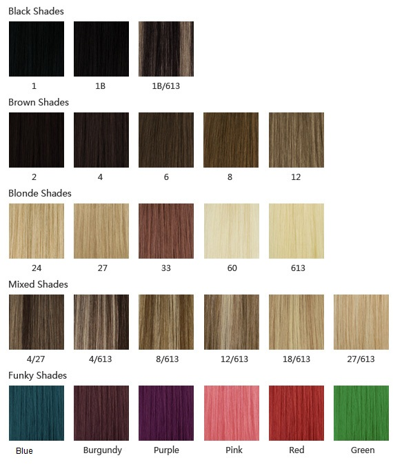 4 Hair Weave Color Chart | image gallery ombre color chart, 20 quot long 50cm 4a grade 100 remy ...