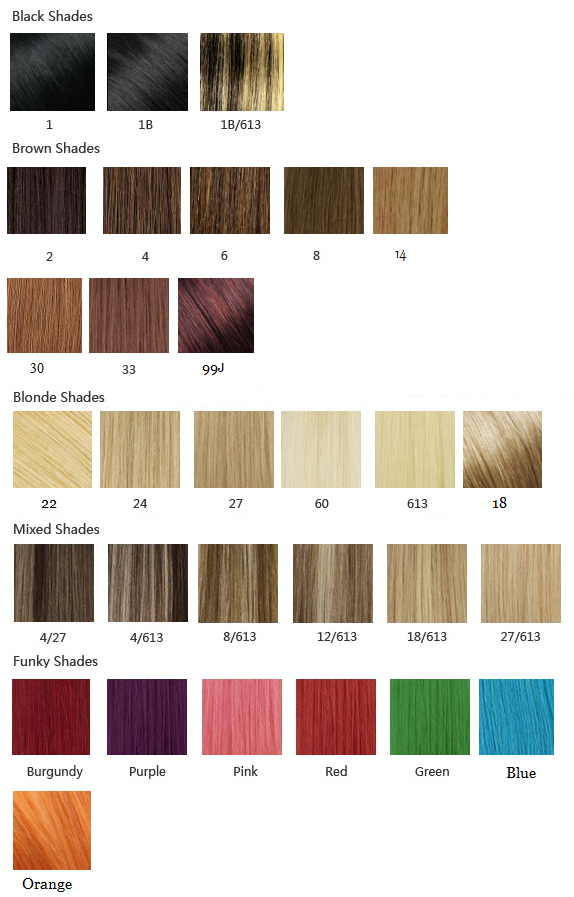 28inch 71cm Clip In Remy Human Hair Extensions Full Head All Colors