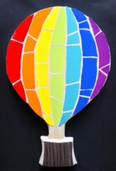 Mosaic rainbow air balloon