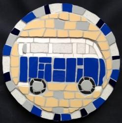 Round mosaic campervan