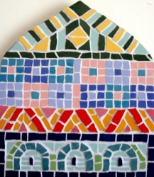 Mosaic Moroccan arch wall hanging
