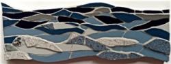 Mosaic seascape wall hanging