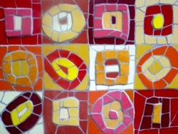 Mosaic wall hanging inspired by Kandinsky