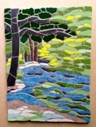A peaceful scene mosaic