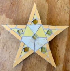 Festive mosaic star wall hanging