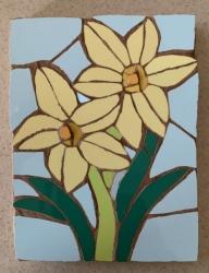 Two daffodils mosaic