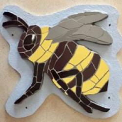 3D mosaic bee wall hanging