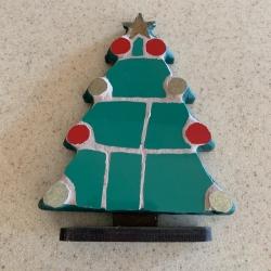 Christmas tree standing mosaic