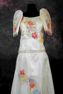 Traditional Filipina Gown