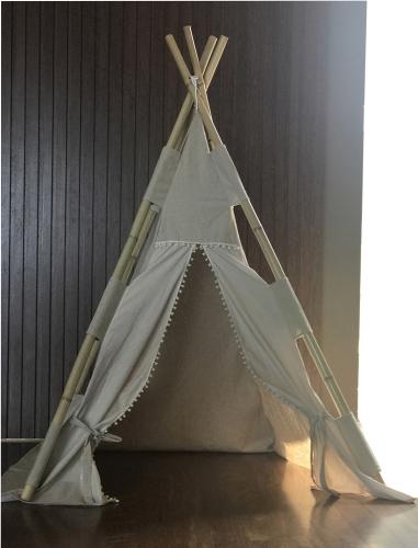 Tenda BAMBOO Linho cor Natural