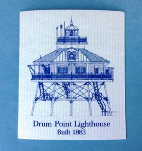 Drum Point Lighthouse Swedish Dishcloth