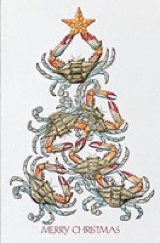 Crabs for Christmas Holiday Cards