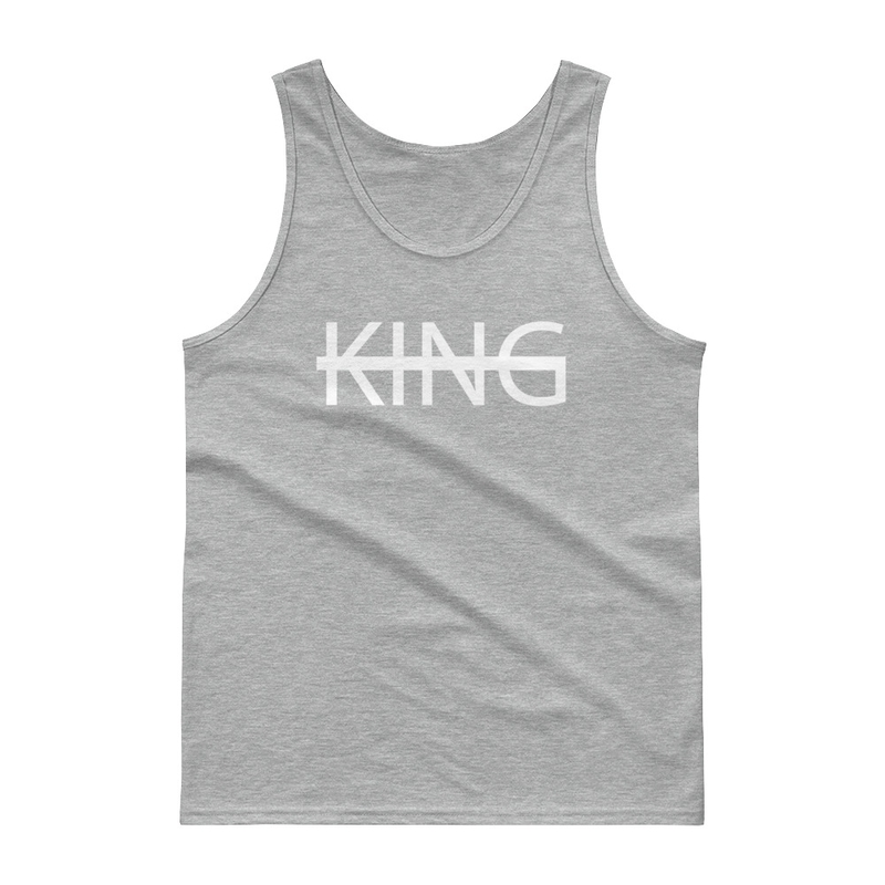 Grey KING Tank Top