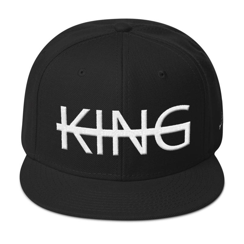 Black KING Snapback Hat