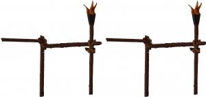 Torch railings