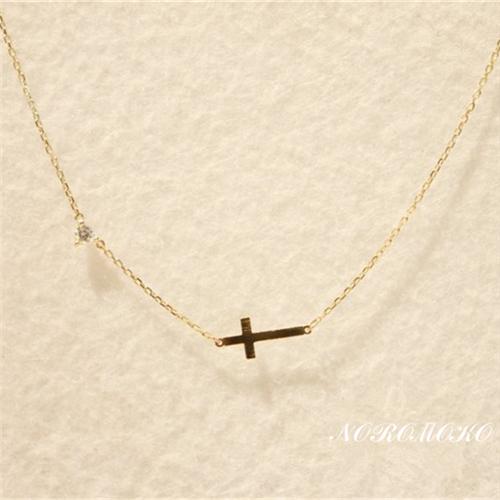クロス ネックレス 人気 k14ゴールド 十字架 ペンダント チェーン