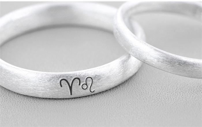 ペアリング シルバー 刻印 おしゃれ 指輪 ペア