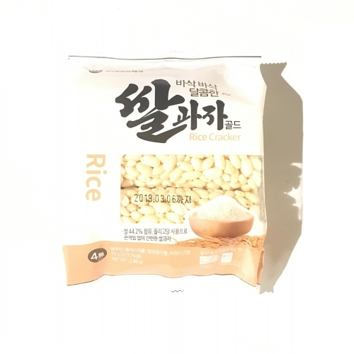 【Korean Food】Mammos Rice Cracker Ssal Goa Ja Gold 70g