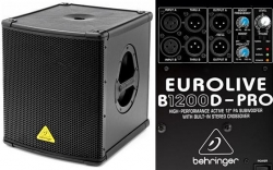 Subgrave amplificado Behringer B1200D Pro - 500-1.000W - 12 polegadas