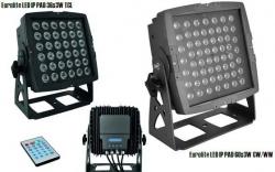 Foco de iluminacao de exteriores Eurolite Led I Pad 36x3W TCL ou 60X3W CW WW - DMX