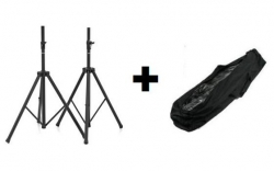Pack de 2 Tripes de Coluna de encaixe standard (35mm) + 1 Saco - Millenium, Music Store, Ibiza ou A.H.