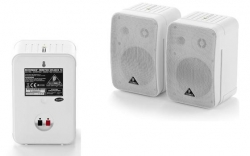Pack de 2 Monitores passivos Behringer Monitor 1C-WH Control - 100-200W - 2 vias - 5 polegadas