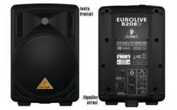 Coluna amplificada Behringer B208D BK Eurolive - 200W - 8 polegadas - classe D - preto