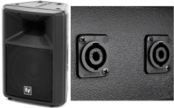 Monitor-Coluna Electro-Voice SX300E - 300-1.200W - 12 polegadas - preto