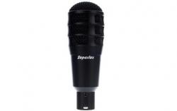 Microfone Superlux Pra 218A - dinamico e supercardioid - para Tarola ou Timbaloes