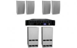P.A. Apart Pubset W - 2 Subgraves + 4 Tops + Amplificador - 2.400-4.800W
