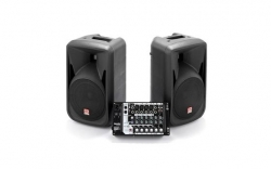 P.A. amplificado Superlux SP108 - 2 Colunas + Mesa - 300-600W