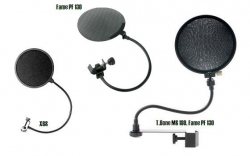 Pop Filter T.Bone MS 180, Fame PF 130 ou XBS - proteccao para gravacao ou vento (wind screen)