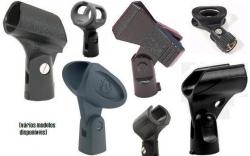 Cachimbo/Pinca para segurar Micro no Tripe - varias marcas - fina (de captacao) media (de mao) grande (sem fio)