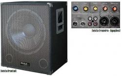 Subgrave amplificado Ibiza Sub18A - 1.200W - 18 polegadas - biamplificacao