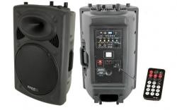 Coluna amplificada Ibiza SLK15A-BT - 800W - 15 polegadas - USB + MP3 + Bluetooth + Comando - biamplificacao