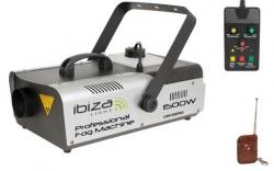 Maquina de Fumo Ibiza LSM1500PRO - 1.500W - DMX - comando a distancia