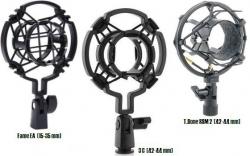 Aranha para Microfones - Fame EA (15-35 mm), T.Bone SSM 2 ou 3 C (42-44 mm) - Shockmount