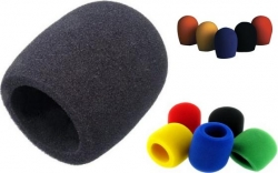Esponja para Microfones - varias cores - proteccao para gravacao ou vento (wind screen)