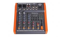 Mesa de Mistura Ibiza MX401 - 4 vias - Efeitos + USB + MP3 + Equalizacao geral