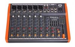 Mesa de Mistura Ibiza MX801 - 8 vias - Efeitos + USB + MP3 + Equalizacao geral